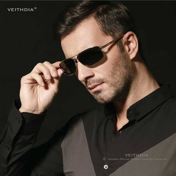 Aluminium Polarized Mens Sunglasses Veithdia Eye Accessories For Boys Adult Unisex Official Rectangle Shades Extra Image 4