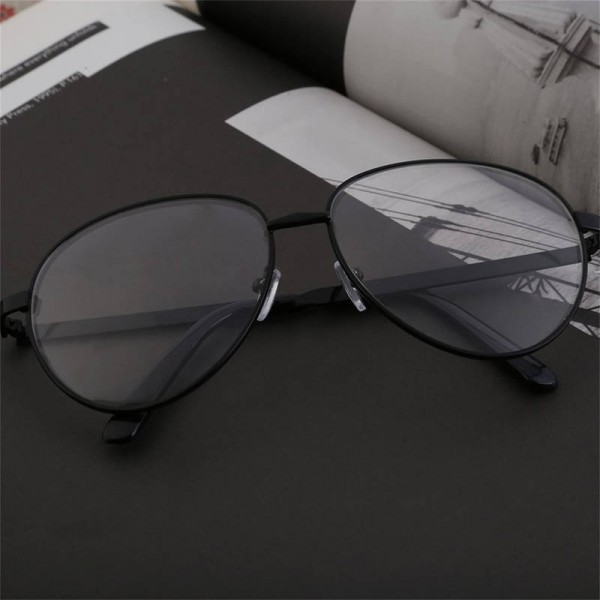 Anti Glare Myopia Metal Frame Glasses Pilot Aviator Anti Radiation Unisex Eyeglasses For Men And Women Extra Image 2