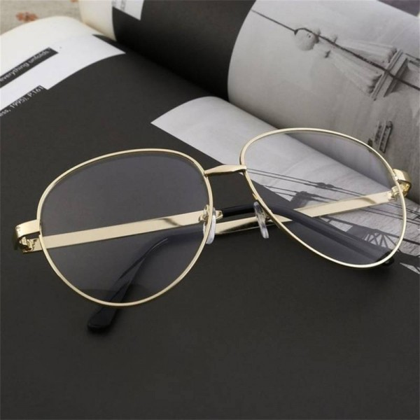 Anti Glare Myopia Metal Frame Aviator Unisex Anti ...