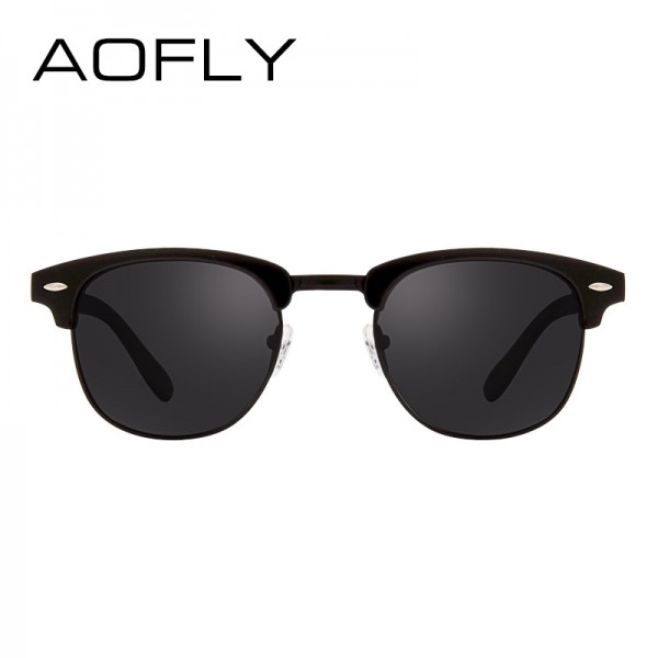 AOFLY Classic Half Metal Polarized Sunglasses Men Women Brand Designer Glasses Mirror Sun Glasses Fashion Gafas Extra Image 4