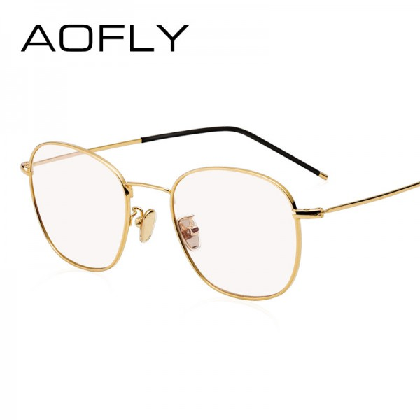AOFLY Eyeglasses Vintage Men Women Brand Designer Prescription Nerd Lens Medical Optical Glasses Alloy Frame Extra Image 2