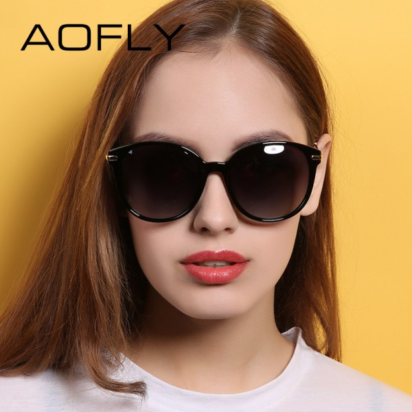 AOFLY Fashion Lady Sun glasses New Polarized Women Sunglasses Vintage Alloy Frame Classic Brand Designer Shades Extra Image 2