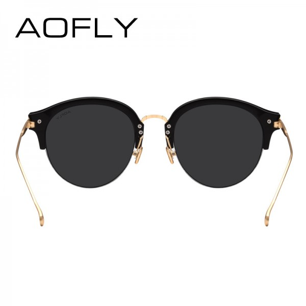 AOFLY Fashion Vintage Cat Eye Sunglasses Luxury Brand Glasses Coating Mirror Lenses Shades Gafas De Sol UV400 Lens Extra Image 4