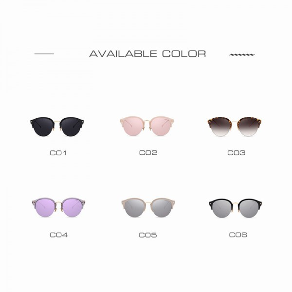 AOFLY Fashion Vintage Cat Eye Sunglasses Luxury Brand Glasses Coating Mirror Lenses Shades Gafas De Sol UV400 Lens Extra Image 5