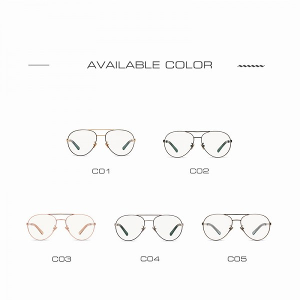 AOFLY Vintage Women Eyeglasses Alloy Metal Frames Women Brand Designers Clear Lens Plain Glasses Transparent Eyewear Extra Image 5