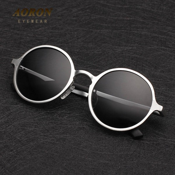 Teashades Sunglasses Aoron Unisex Polarized Round Fashionable Teashades Driving Men Sunglasses Thumbnail
