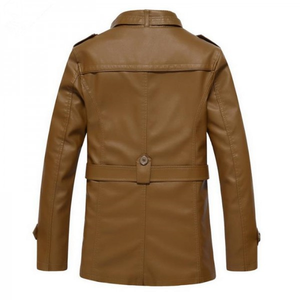 Autumn and winter new jacket PU men leather jacket and coat fashion leather motorcycle brand clothing Leisure Extra Image 3