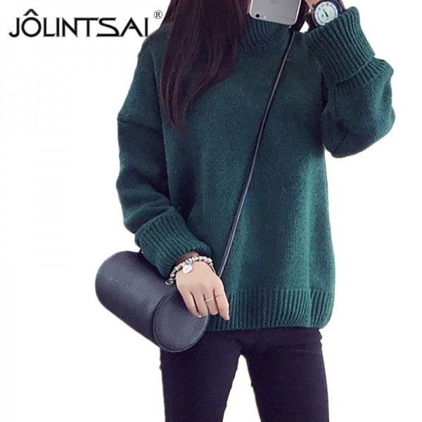 Autumn Knitwear Turtleneck Oversized Pullover Sweater Women Loose Thick Poncho Knitted Sweaters Female Casual Outwear Extra Image 2
