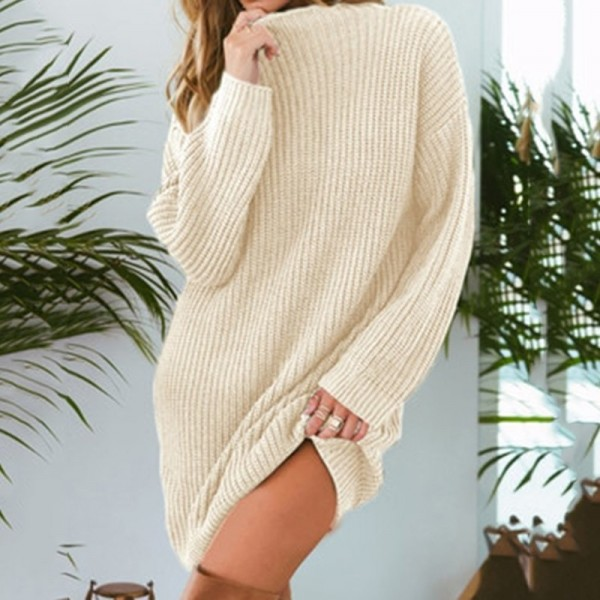 Autumn Loose Knitting Sweater New Brand Fashion Casual Long Sleeve Sweater Loose Long Sweater Pullovers Women Clothing Extra Image 5