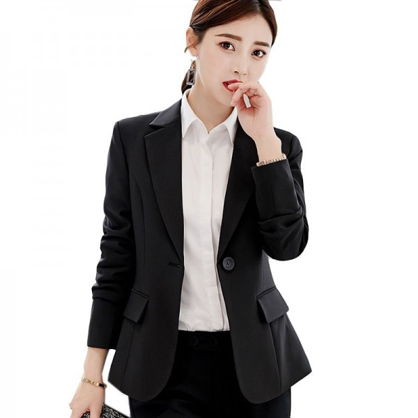 Autumn Suits New Womens Clothes Formal Office Work Blazer One Button Long Sleeve Top Slim Suit Casual Jacket Extra Image 2
