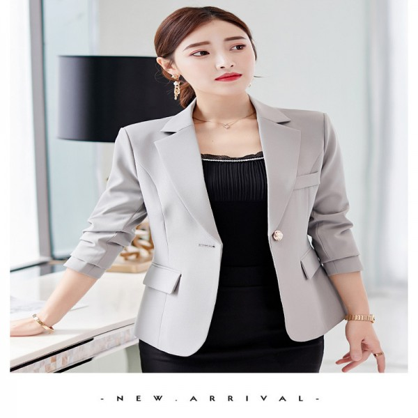 Autumn Suits New Womens Clothes Formal Office Work Blazer One Button Long Sleeve Top Slim Suit Casual Jacket Extra Image 5