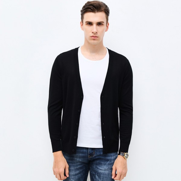 Autumn Winter Fashion Brand Clothing Men Knitted Sweater Solid Color Slim Fit Cardigan High Quality Sweaters For Men Extra Image 3