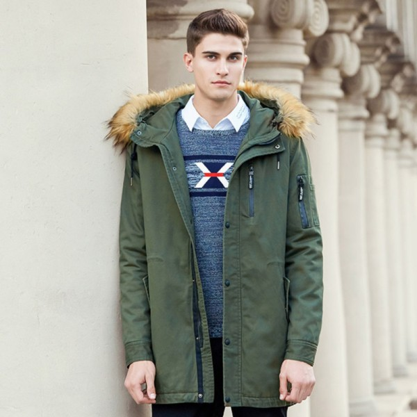 Buy Autumn winter jacket men brand clothing cotton coat male ...