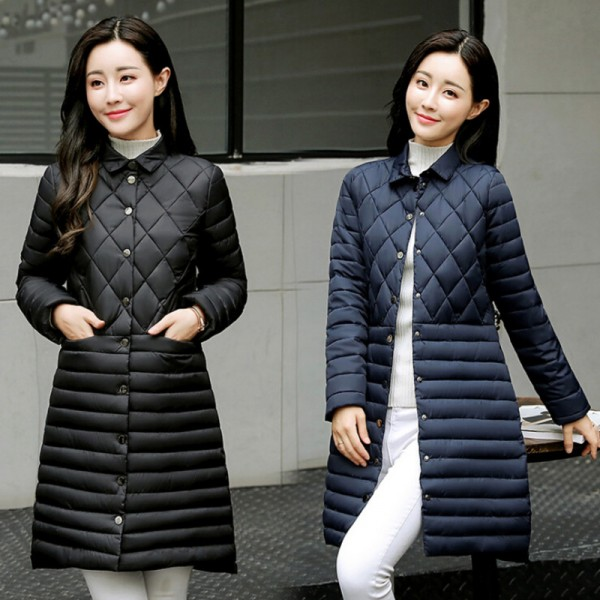 Autumn Winter Long Coat Women Thin Parka New Arrivals Padded Coats Female Parkas Winter Jacket Women Plus Size