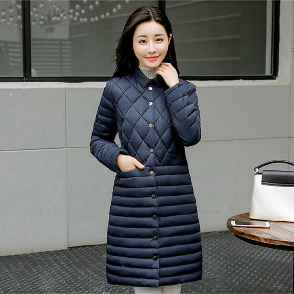 Autumn Winter Long Coat Women Thin Parka New Arrivals Padded Coats Female Parkas Winter Jacket Women Plus Size Extra Image 4