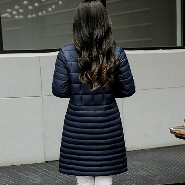 Autumn Winter Long Coat Women Thin Parka New Arrivals Padded Coats Female Parkas Winter Jacket Women Plus Size Extra Image 5