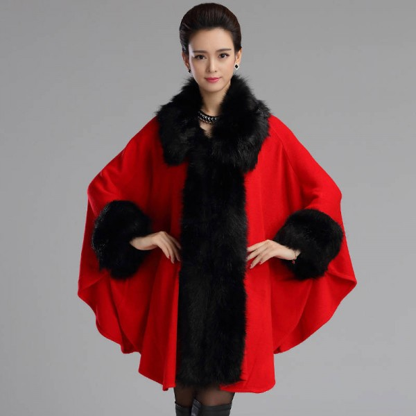 Autumn Winter Long Luxury Cardigan Fox Fur Collar Cashmere Sweater Cardigan Women Extra Images 3