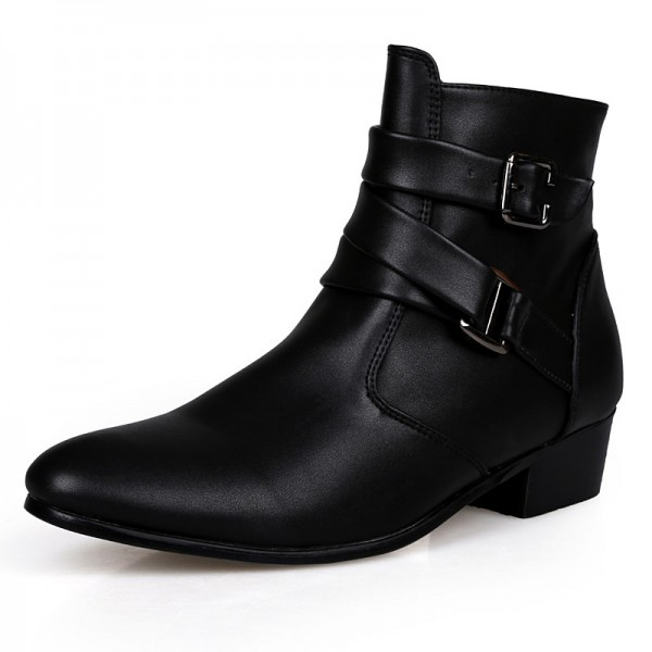 Autumn Winter Man Warm Ankle Boots Size 39 44 Black White Adult Men Suede Leather Casual Boots Warm Fur Boots