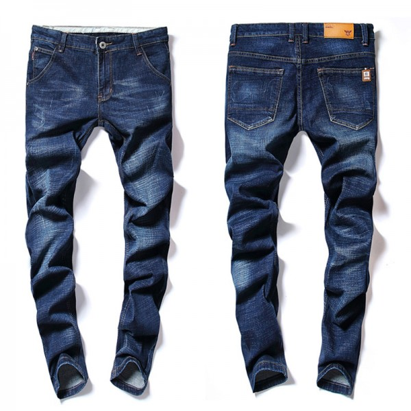 Autumn Winter Mens Jeans Skinny Slim Washed Pants Elasticity Cotton Stretch Fashion Straight Jean Plus Size Trousers Extra Image 4
