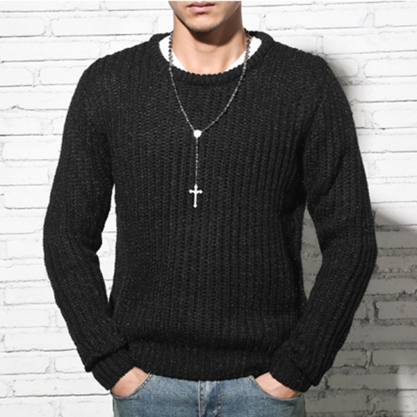 Autumn winter sweaters men pullovers brands slim Pullover Men V neck Casual turtleneck sweaters male Knitwear Pull Extra Image 3