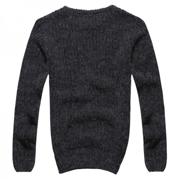 Autumn winter sweaters men pullovers brands slim Pullover Men V neck Casual turtleneck sweaters male Knitwear Pull Extra Image 5