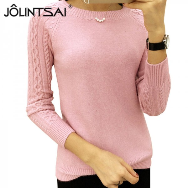 Autumn Winter Sweaters Women Hot Sale Winter O Neck Long Sleeve  Pullovers Knitted Sweater Female Warm Tops Extra Image 1