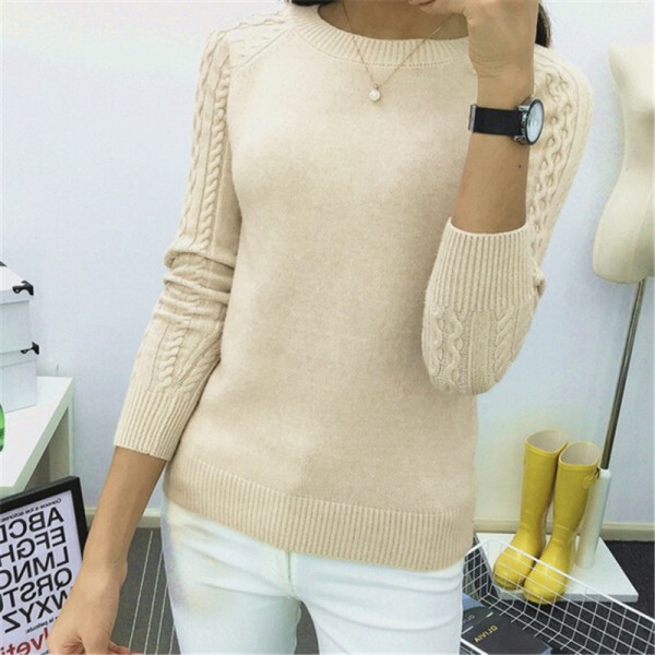 Autumn Winter Sweaters Women Hot Sale Winter O Neck Long Sleeve  Pullovers Knitted Sweater Female Warm Tops Extra Image 2