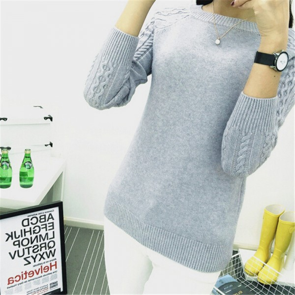 Autumn Winter Sweaters Women Hot Sale Winter O Neck Long Sleeve  Pullovers Knitted Sweater Female Warm Tops Extra Image 3