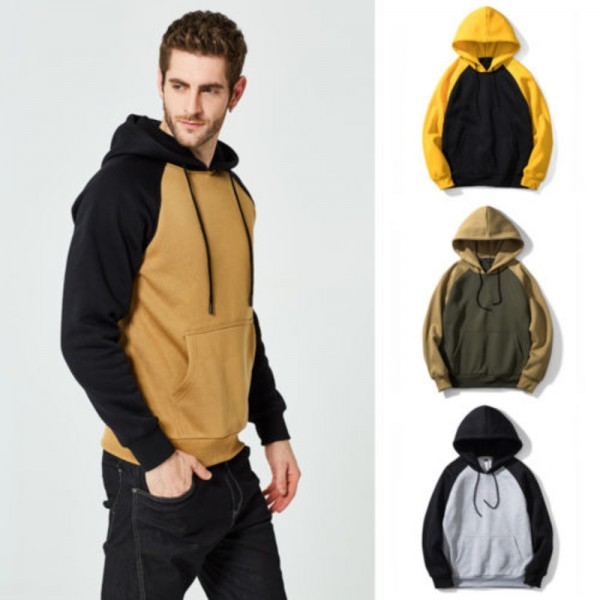 Autumn Winter Women Men Hooded Sweatshirts New Fashion Patchwork Hip Hop Skateboard Coat Jackets Sweatshirts Pullover Extra Image 2
