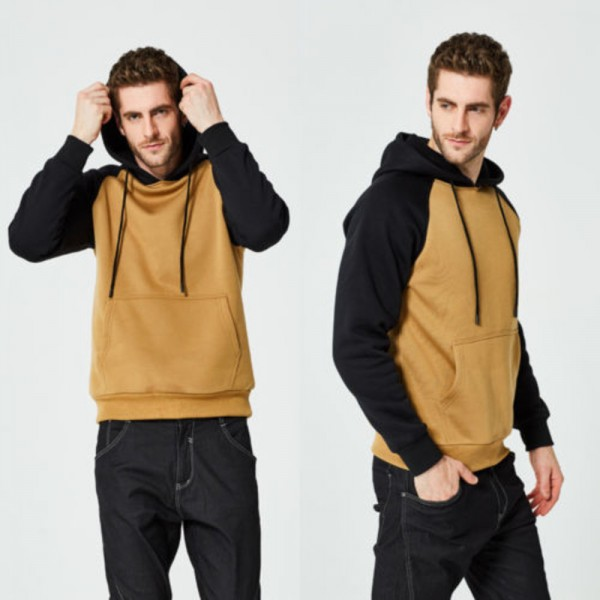 Autumn Winter Women Men Hooded Sweatshirts New Fashion Patchwork Hip Hop Skateboard Coat Jackets Sweatshirts Pullover Extra Image 4