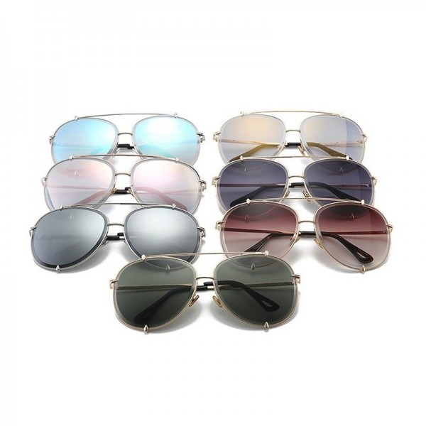 Aviation Oversize Sunglasses Women Classic Brand Design Metal Frame Sun Glasses Vintage Retro Eyewear Gradient Shades Extra Image 6