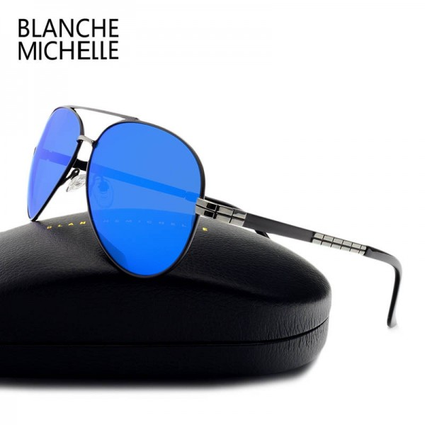 Aviator Goggles High Quality Pilot Polarized Sunglasses For Men Driving UV400 Polaroid Musculine Shades Extra Image 3