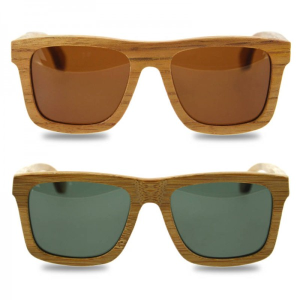 Bamboo Sunglasses Luxury Wooden Vintage Classic New Fashion Comfortable Polarized Eyewear With Oval Design Extra Image 2