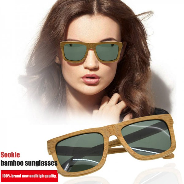 Bamboo Sunglasses Luxury Wooden Vintage Classic New Fashion Comfortable Polarized Eyewear With Oval Design Extra Image 5