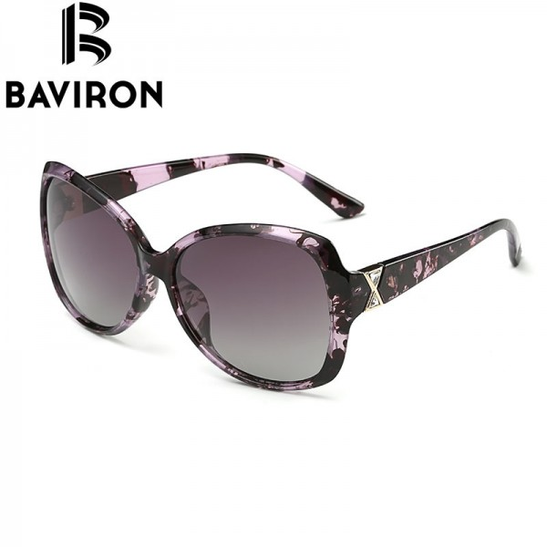 BAVIRON City Eye Tortoise Sunglasses Women Polarized Lenses Glasses Retro Sunglasses Style Gradient Colors Rays UV400 Extra Image 2