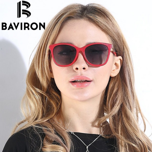 BAVIRON Shield Glasses Women Luxury Design HD Polarized Sunglasses New Trend Polaroid Women Sunglasses Eyewear
