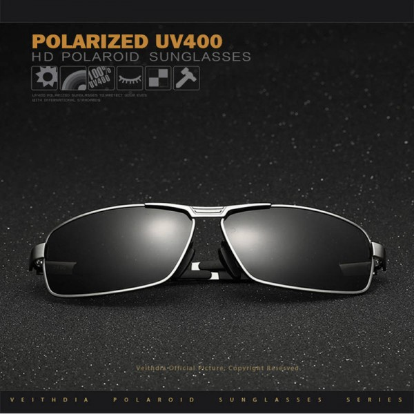 Best Hiking Sunglasses For Men And Women Polarized Rectangle UV400 Eye Accessories From Veithdia Brand Extra Image 4