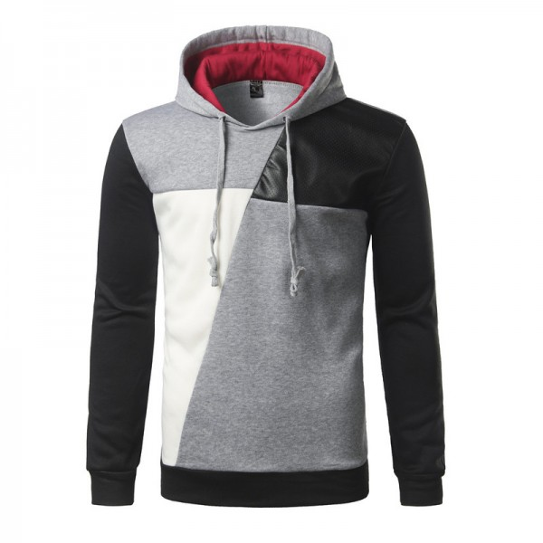 Best Hoodie Hit Color Leather Casual Hoodies Men Fashion Tracksuit Male Sweatshirt Off White Hoody Mens Purpose Tour Extra Image 2