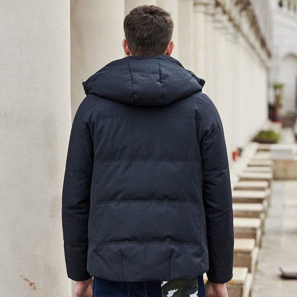 Big autumn winter thick duck down jacket men brand clothing male down coat fashion casual warm jacket parkas for men Extra Image 4