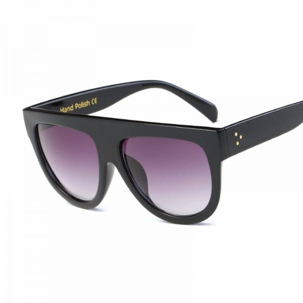 Big Frame Teens Sunglasses For College School Girls Rivet Decoration On Temple Summer Style Shades For Women Extra Image 2