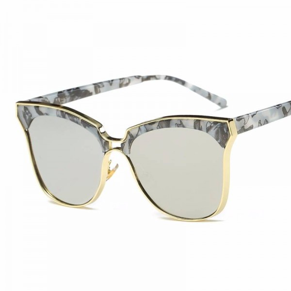 Big Oversized Retro Sunglasses Cat Eye Vintage Designer Large Frame Goggles For Ladies UV400 Polarized Lens Extra Image 4