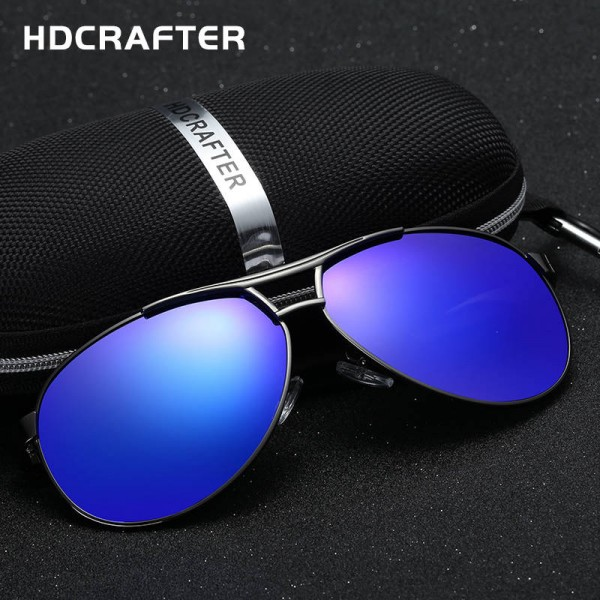 Black Aviator Sunglasses Vintage Pilot Dark Mirror Black Frame Hot Fashion Eye Goggles For Men With Box Extra Image 1