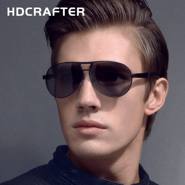 Black Aviator Sunglasses Vintage Pilot Dark Mirror Black Frame Hot Fashion Eye Goggles For Men With Box Extra Image 2