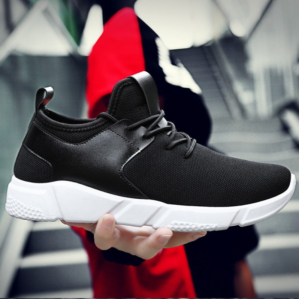 Black Casual Shoes For Men Light Breathable Cheap Lace Up Man Winter Warm Shoes With Fur Snow Boots Keep Warm Boots Extra Image 2