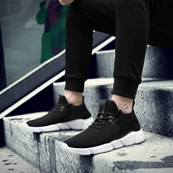 Black Casual Shoes For Men Light Breathable Cheap Lace Up Man Winter Warm Shoes With Fur Snow Boots Keep Warm Boots Extra Image 4