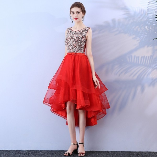 Buy Black Short Front Long Back Prom Dresses Princess vestido de ...