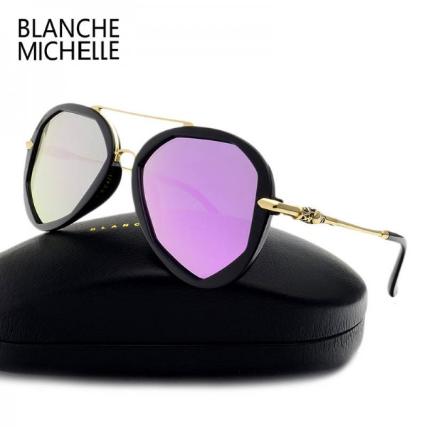 Blanche Michelle Fashion Sunglasses For Female Polarized Luxury Designer Polygon UV400 Eyewear For Ladies Extra Image 0