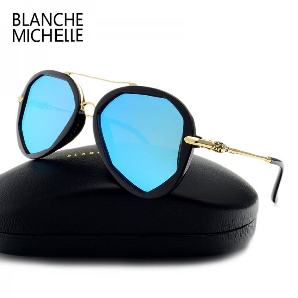 Blanche Michelle Fashion Sunglasses For Female Polarized Luxury Designer Polygon UV400 Eyewear For Ladies Extra Image 2
