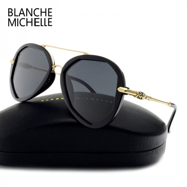 Blanche Michelle Fashion Sunglasses For Female Polarized Luxury Designer Polygon UV400 Eyewear For Ladies Extra Image 3