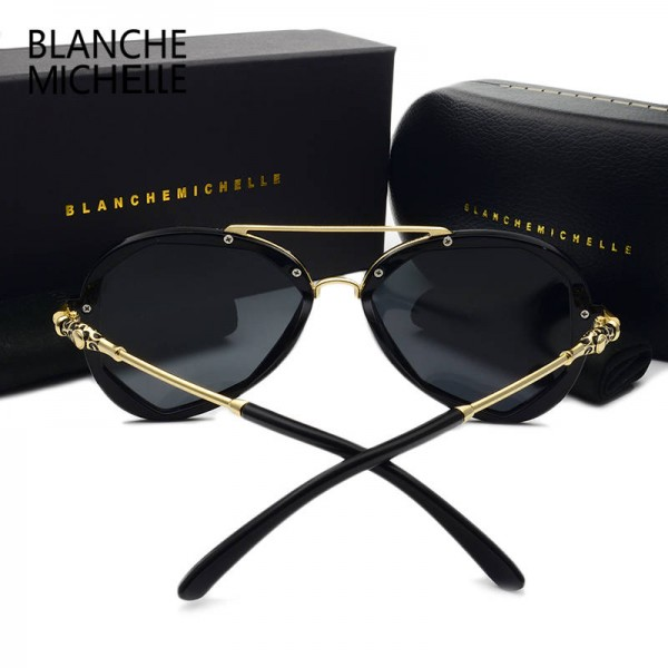 Blanche Michelle Fashion Sunglasses For Female Polarized Luxury Designer Polygon UV400 Eyewear For Ladies Extra Image 5